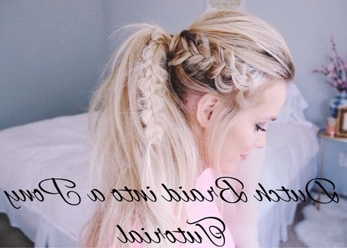 Braided Ponytail Ideas: 40 Cute Ponytails With Braids | Hair With Messy Ponytail Hairstyles With Side Dutch Braid (View 16 of 25)