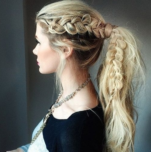 Braided Ponytail Ideas: 40 Cute Ponytails With Braids | Hairstyles Intended For Ponytail And Lacy Braid Hairstyles (View 2 of 25)