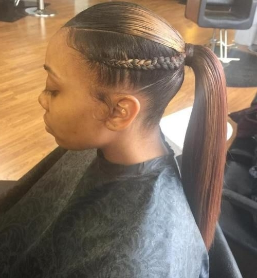 Braided Ponytail Ideas: 40 Cute Ponytails With Braids In 2018 For Entwining Braided Ponytail Hairstyles (View 5 of 25)