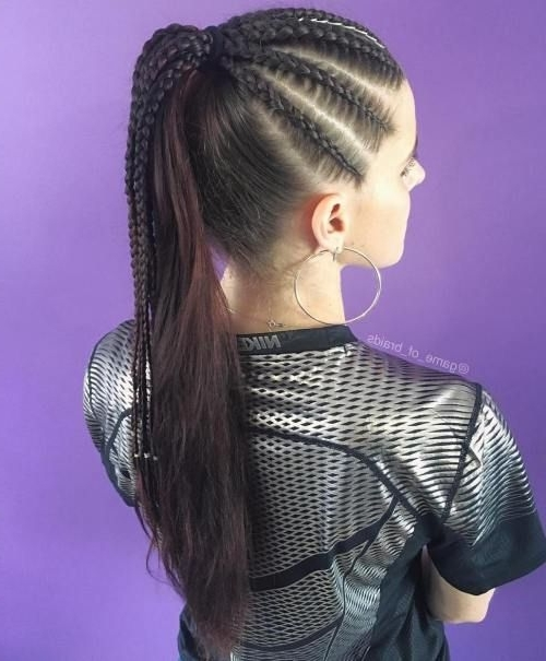Braided Ponytail Ideas: 40 Cute Ponytails With Braids | Long With Regard To Brunette Macrame Braid Hairstyles (View 12 of 25)