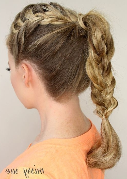 Braided Ponytail Ideas: 40 Cute Ponytails With Braids – Page 16 In Classy 2 In 1 Ponytail Braid Hairstyles (View 5 of 25)