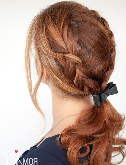 Braided Ponytail Ideas: 40 Cute Ponytails With Braids – Page 18 In Double Tied Pony Hairstyles (View 11 of 25)