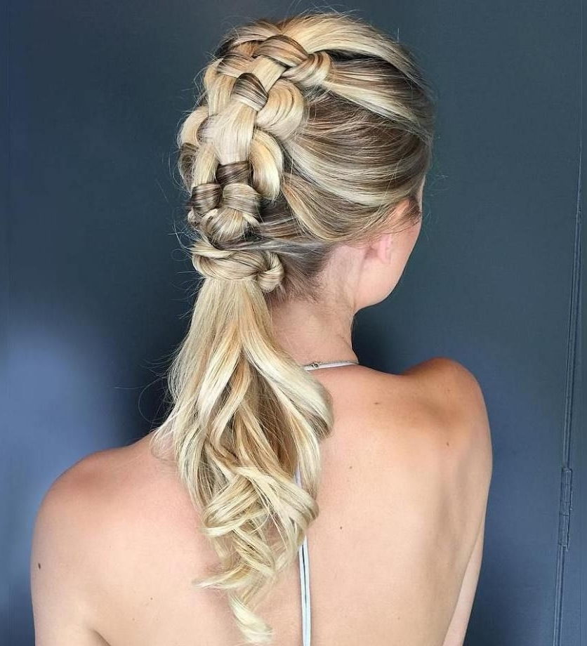 Braided Ponytail Ideas: 40 Cute Ponytails With Braids | Pinterest Pertaining To Brunette Macrame Braid Hairstyles (View 13 of 25)