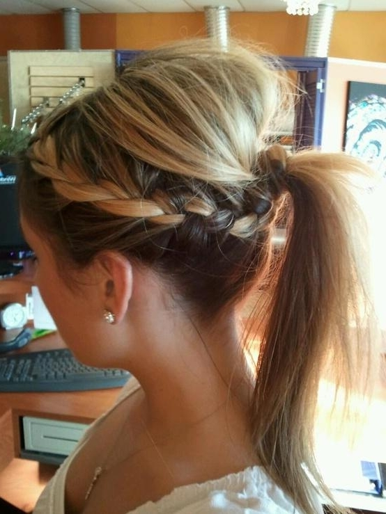 Braided Ponytail – Long Hairstyles How To With Regard To Long Braided Ponytail Hairstyles With Bouffant (View 7 of 25)