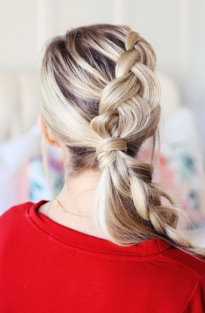 Braided Ponytail, The Perfect Christmas Hairstyle! – Twist Me Pretty With Pony Hairstyles With Accent Braids (View 13 of 25)