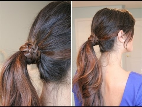 Braided Wrap Around Ponytail – Youtube For Wrapped Up Ponytail Hairstyles (View 2 of 25)