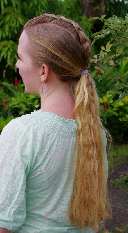 Braids & Hairstyles For Super Long Hair: Mohawk Dutch Braid And Low With Regard To Waist Length Ponytail Hairstyles With Bangs (View 5 of 25)