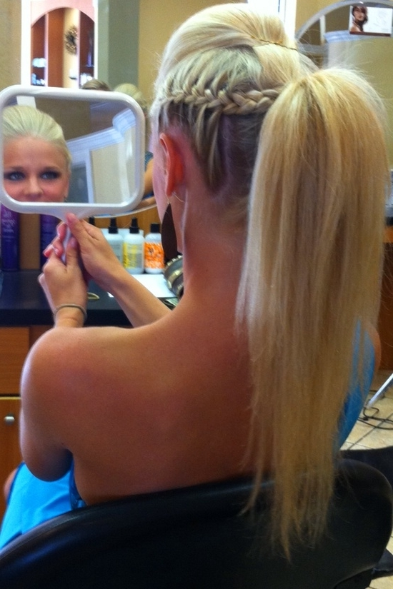 Braids & Hairstyles For Super Long Hair: Mohawk/side French Braids Updo For Mohawk Braid Into Pony Hairstyles (View 17 of 25)