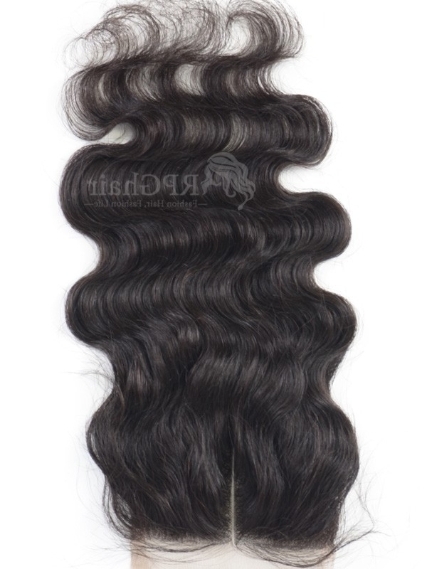 Brazilian Virgin Hair Body Wave Lace Closure Natural Color With Natural Color Waves Hairstyles (View 10 of 25)