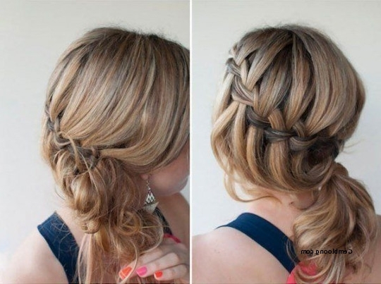 Bridesmaid Hairstyles Side Ponytail With Braid Fresh Braided Side With Regard To Braided Side Ponytail Hairstyles (View 12 of 25)