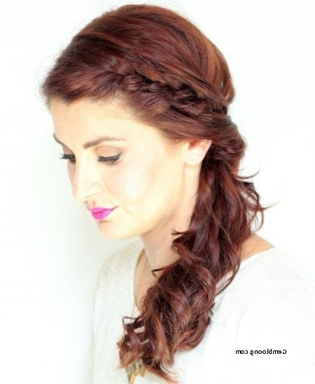 Bridesmaid Hairstyles Side Ponytail With Braid Lovely 17 Best Ideas In Side Braid Hairstyles For Curly Ponytail (View 2 of 25)