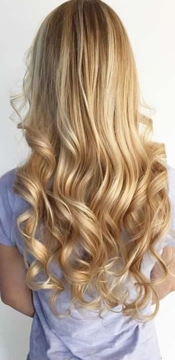 Bright Golden Blonde Balayage Beach Hair More   Hair Styles I Want Inside Golden Blonde Balayage Hairstyles (View 18 of 25)
