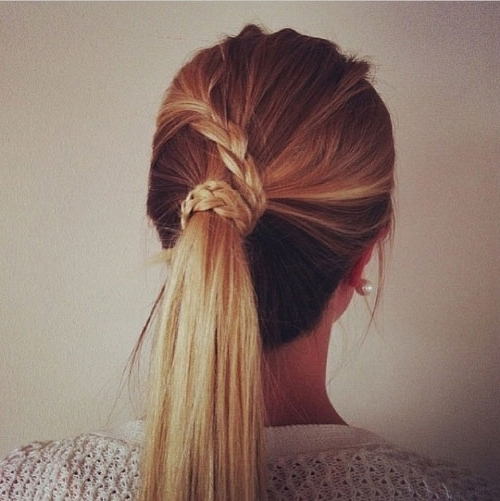 Brilliant Ponytail Hairstyles To Make You The Most Stylish Inside Trendy Ponytail Hairstyles With French Plait (View 15 of 25)
