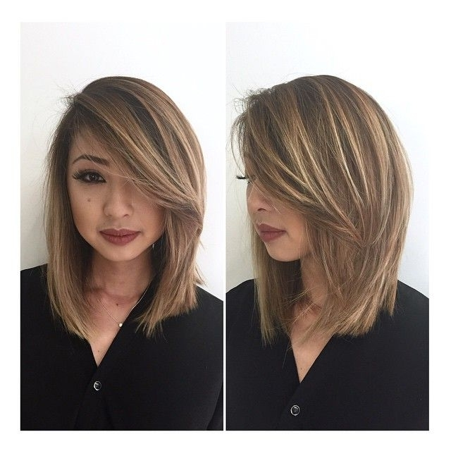 Bronde Lob … | Hair | Pinte… Within Bronde Bob With Highlighted Bangs (View 19 of 25)