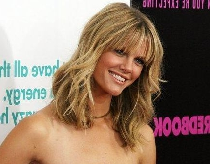 Brooklyn Decker Choppy Bangs – Casual, Beach, Everyday – Careforhair Inside Blonde Ponytail Hairstyles With Beach Waves (View 18 of 25)