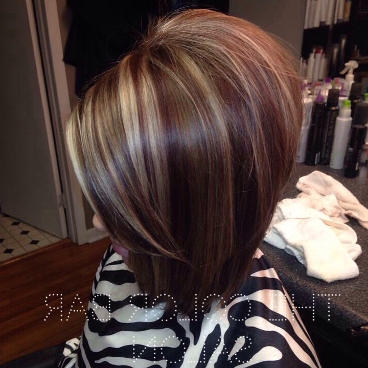 Brown Hair With Red And Blonde Highlights (8 Hairstyles) – Dgfc Styles In Long Bob Blonde Hairstyles With Lowlights (View 12 of 25)