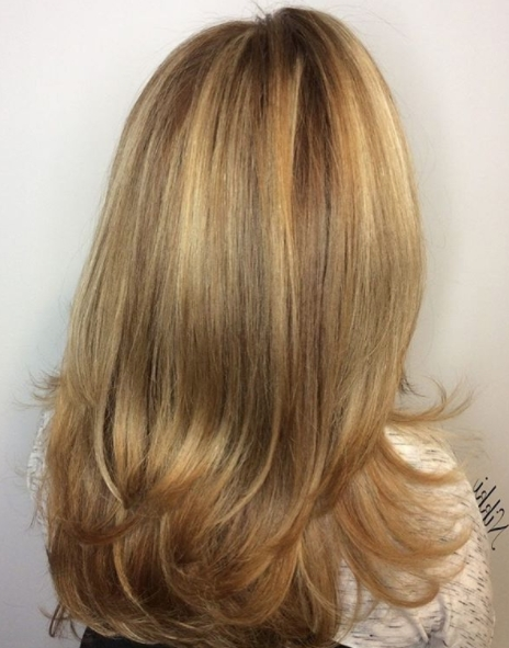 Brown Sugar Highlightsnikki #fallhaircolor #fallhighlights In Brown Sugar Blonde Hairstyles (View 18 of 25)
