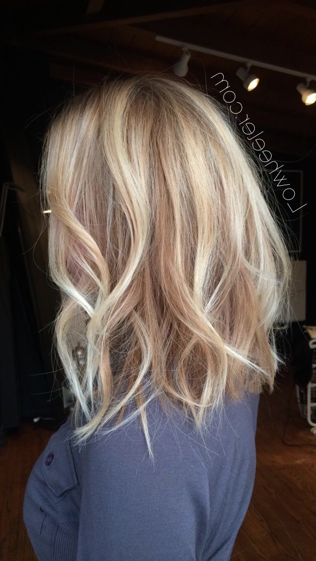 Brunette Balayage & Hair Highlights : Blonde Long Bob Balayage Ombré With Regard To Blonde Color Melt Hairstyles (View 25 of 25)