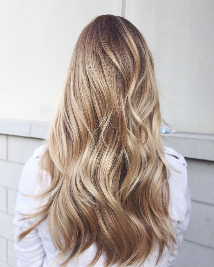 Brunette Balayage & Hair Highlights : Golden Blonde Balayage In Golden Blonde Balayage Hairstyles (View 25 of 25)