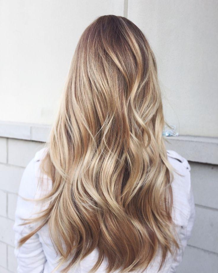 Brunette Balayage & Hair Highlights : Golden Blonde Balayage In Golden Blonde Balayage Hairstyles (View 19 of 25)