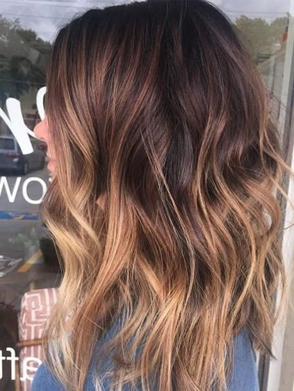 Brunette Color Melt Ideas For Hairstyles 2018 Winter Spring | Beauty Intended For Blonde Color Melt Hairstyles (View 13 of 25)