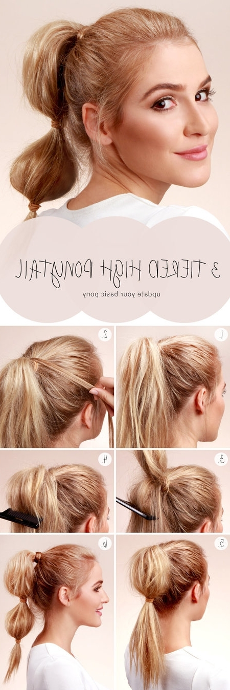 Bubble Ponytail Tutorial! #hairdo #bubblepony #hairstyle | ~Hair With Regard To High Bubble Ponytail Hairstyles (View 16 of 25)