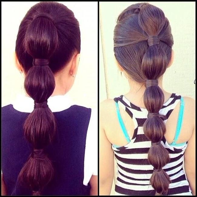 Bubble Ponytail Within High Bubble Ponytail Hairstyles (View 17 of 25)