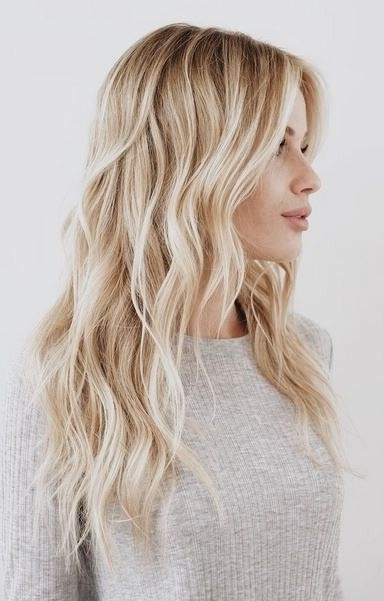Buttery Blonde | Primp | Pinterest | Buttery Blonde, Blondes And Pertaining To Honey Hued Beach Waves Blonde Hairstyles (View 16 of 25)