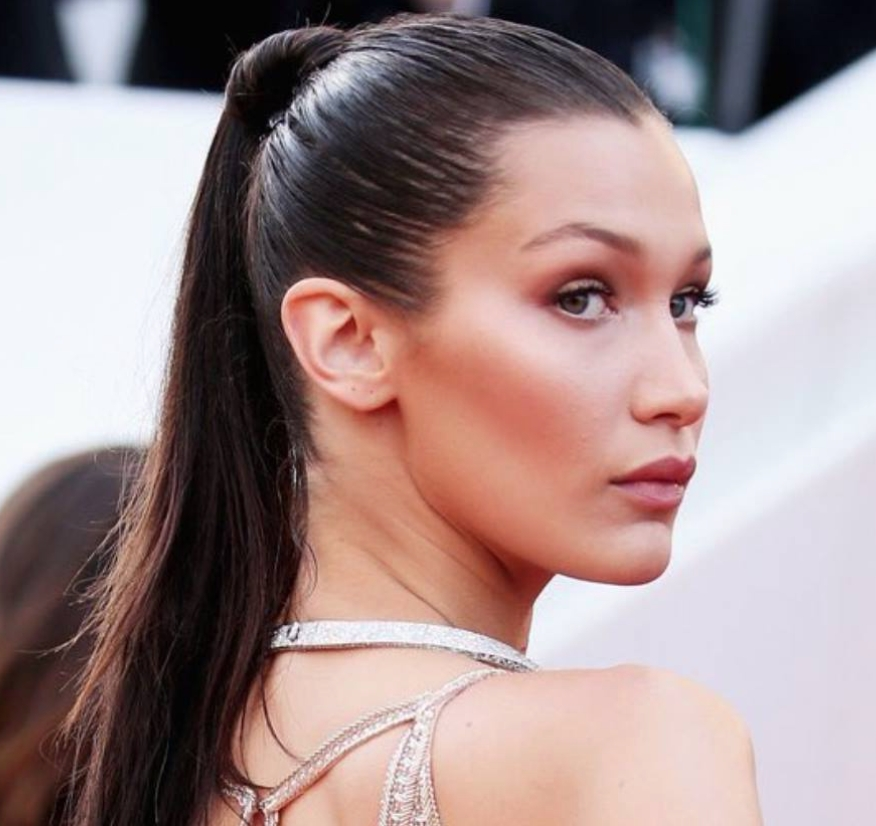 Cannes Film Festival 2016 :bella Hadid Stole The Show With A Sleek Throughout Tight And Sleek Ponytail Hairstyles (View 8 of 25)