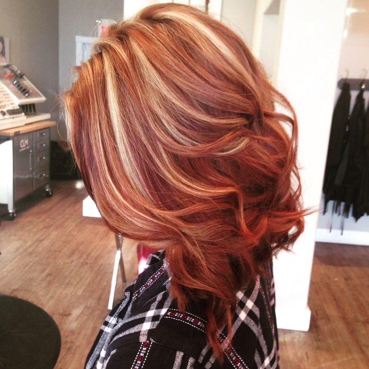 Captivating Auburn Hair With Highlights Recommendations To Your Hair Pertaining To Light Copper Hairstyles With Blonde Babylights (View 24 of 25)