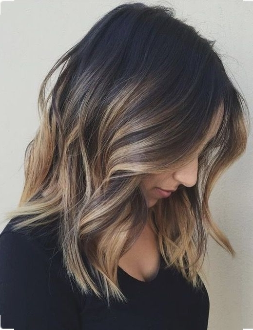 Caramel Blonde Bayalage On Dark Brunette Base (Fall Blonde Caramel With Dark Locks Blonde Hairstyles With Caramel Highlights (View 10 of 25)