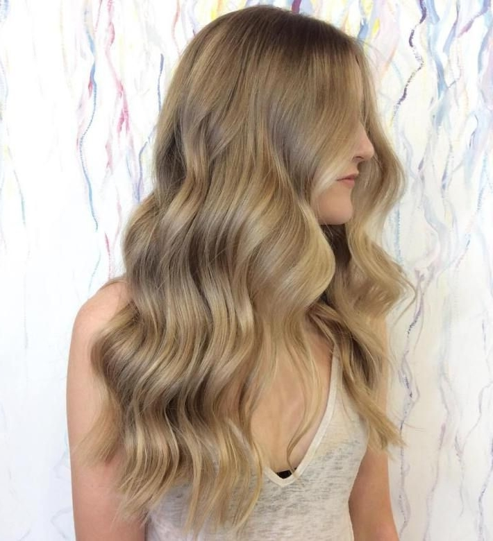 Caramel Blonde Long Wavy Hairstyle #blondehairstyleslong | Blonde Inside Caramel Blonde Hairstyles (View 24 of 25)