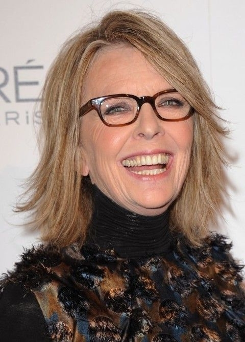 Carefree Cut With Yummy Highlights For Women Over 60! Diane Keaton Intended For Voluminous And Carefree Loose Look Blonde Hairstyles (View 18 of 25)