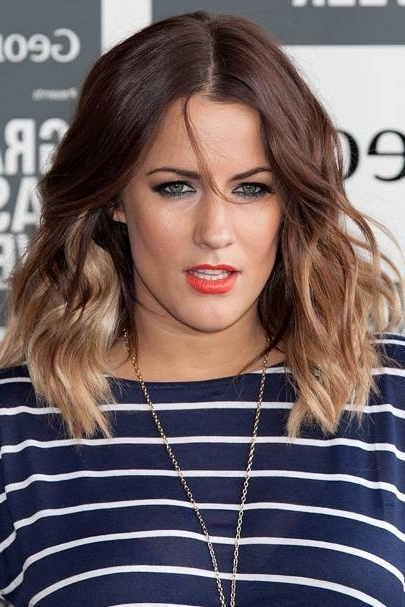 Caroline Flack: Look Book – Celebrity Hair And Hairstyles | Glamour Uk Inside Tousled Shoulder Length Ombre Blonde Hairstyles (View 23 of 25)