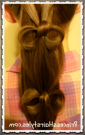 Cascading Bows Ponytail Hairstyle – Hairstyles For Girls – Princess For Ponytail Cascade Hairstyles (View 15 of 25)