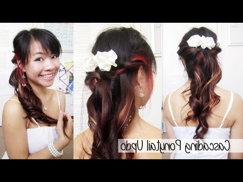 Cascading Ponytail For Prom – Youtube With Cascading Ponytail Hairstyles (View 11 of 25)