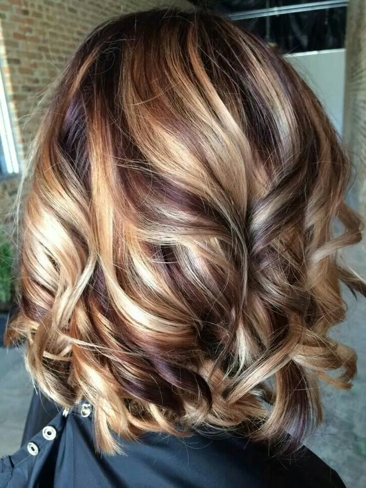 ?????????? ??????? ??? Blonde Hair With Cherry And Chocolate Within Blonde And Brunette Hairstyles (View 12 of 25)