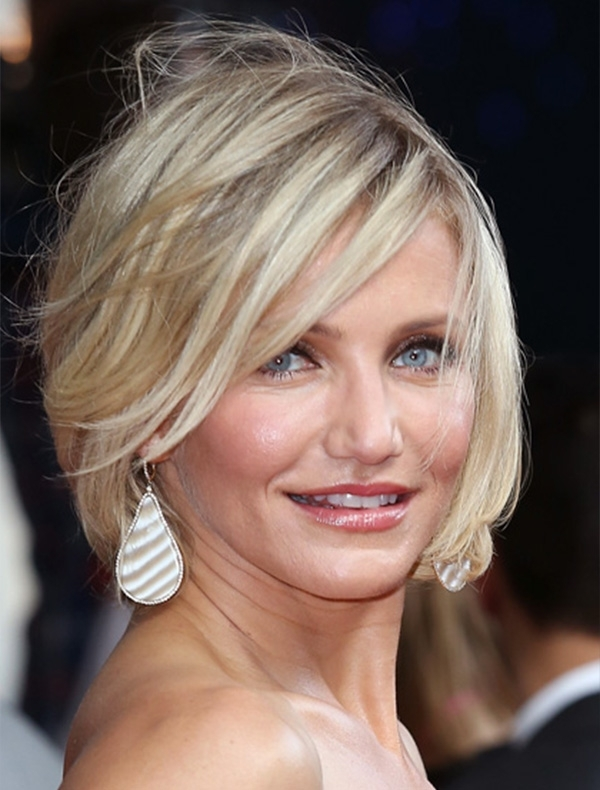 Celebrities With Choppy Bob Hairstyles – Women Hairstyles Within Choppy Cut Blonde Hairstyles With Bright Frame (View 23 of 25)