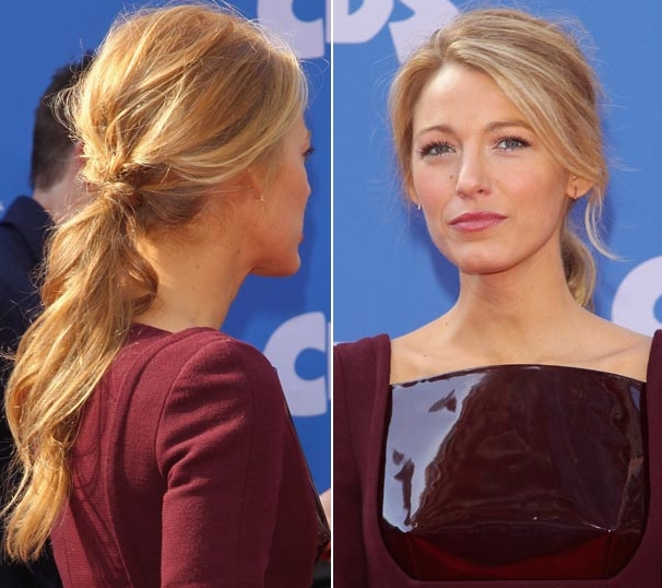 Celebrity Easy Hairstyles With Extensions Collection Of Blake Inside Low Ponytail Hairstyles With Waves (View 19 of 25)