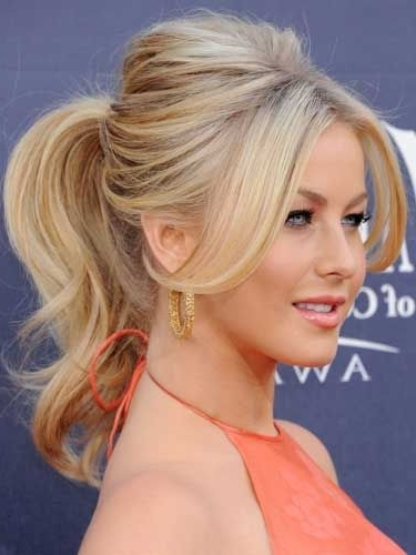 Celebrity Ponytails | Hairstyles | Pinterest | Cosmopolitan Regarding Blonde Flirty Teased Ponytail Hairstyles (View 25 of 25)