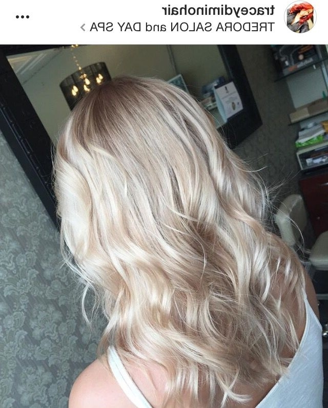 Champagne Blonde, Platinum, Sandy, Beige, Rose Gold, Light Blonde With Light Golden Blonde With Platinum Highlights (View 17 of 25)
