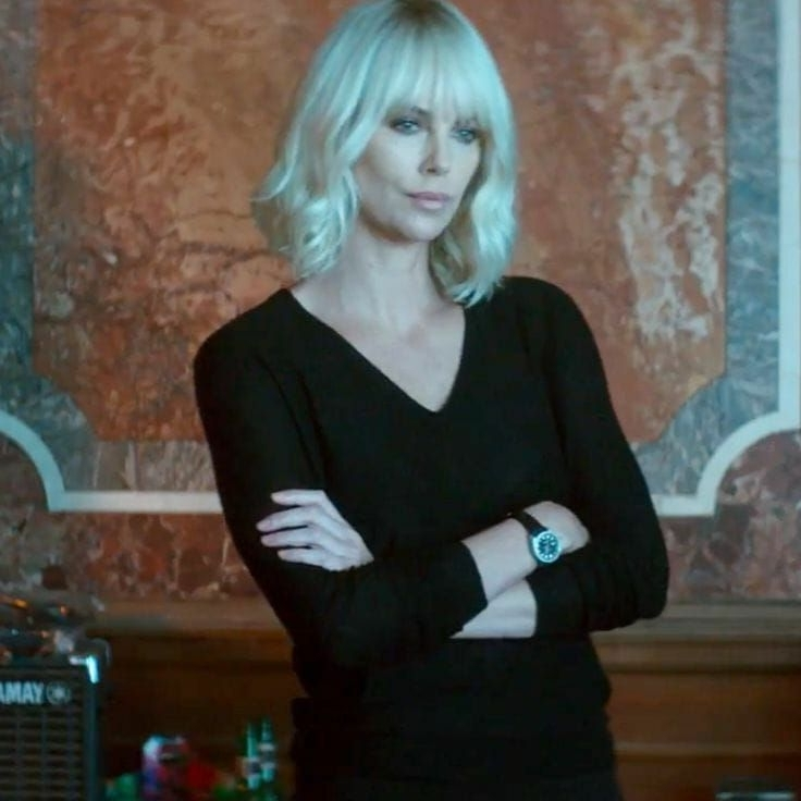 Charlize Theron | Atomic Blonde | Pinterest | Charlize Theron Inside Porcelain Princess Karate Chop Blonde Hairstyles (View 15 of 25)
