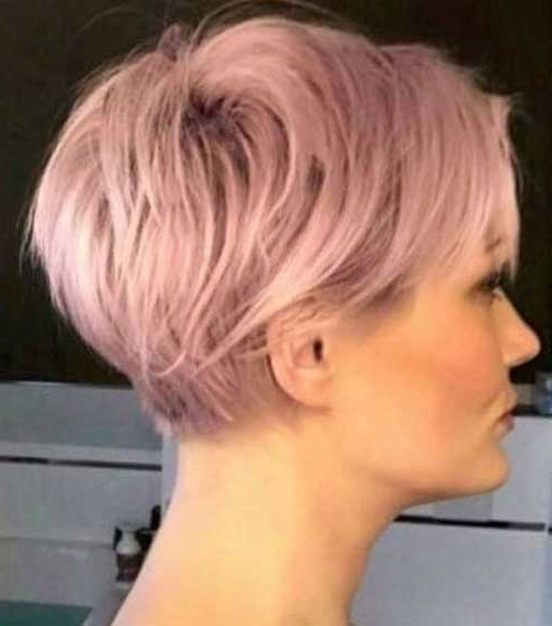 Charming Short Hair Color Ideas | Short Hairstyles 2017 – 2018 Within Latest Rose Gold Pixie Hairstyles (View 14 of 25)