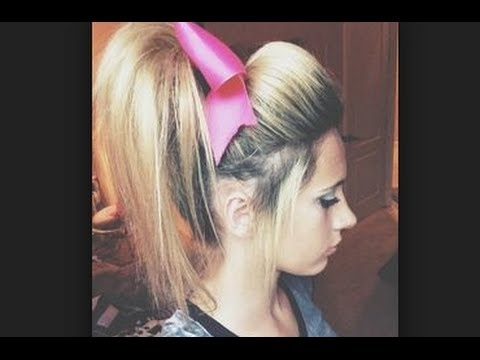 Cheer Hair Tutorial: Perfect Poof For Practice With Allie! ? – Youtube For Poofy Ponytail Hairstyles With Bump (View 12 of 25)