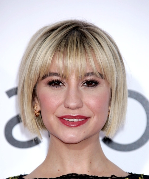 Chelsea Kane Classic Pageboy Short Straight Formal Bob Hairstyle In Classic Blonde Bob With A Modern Twist (View 23 of 25)