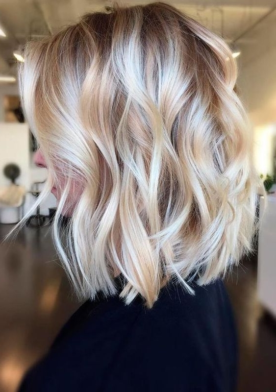 Chic Medium Length Layered Haircuts For 2017 2018   Blonde Hair Pertaining To Textured Medium Length Look Blonde Hairstyles (View 3 of 25)