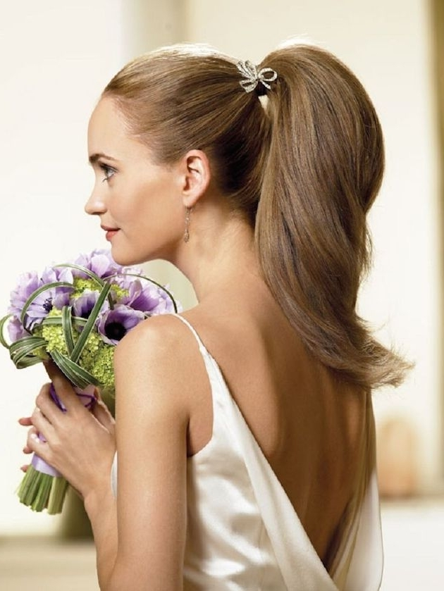Chic New Ways To Rock Your Pony Tail Style ! | +Adw /title+Ad4 Intended For Classic Bridesmaid Ponytail Hairstyles (View 9 of 25)