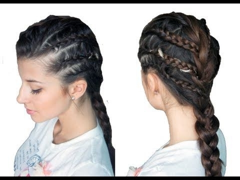 Chic Rockstar Braided Look   Evelinicutza Video   Beautylish   Hair Throughout Rockstar Fishtail Hairstyles (View 15 of 25)