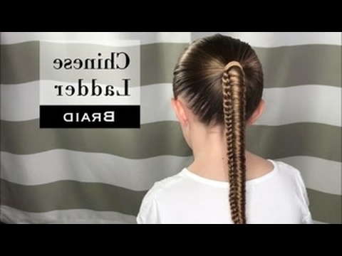 Chinese Ladder Braidholster Brands – Youtube With Regard To Ladder Braid Side Ponytail Hairstyles (View 9 of 25)