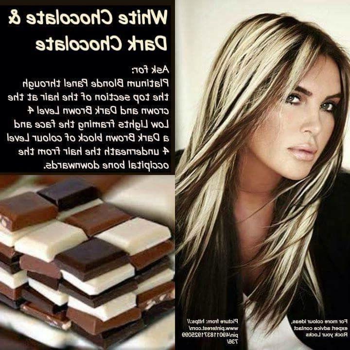 Chocolate And Vanilla | Style | Pinterest | Vanilla, Hair Coloring Regarding Light Chocolate And Vanilla Blonde Hairstyles (View 15 of 25)